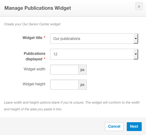 Create widget box